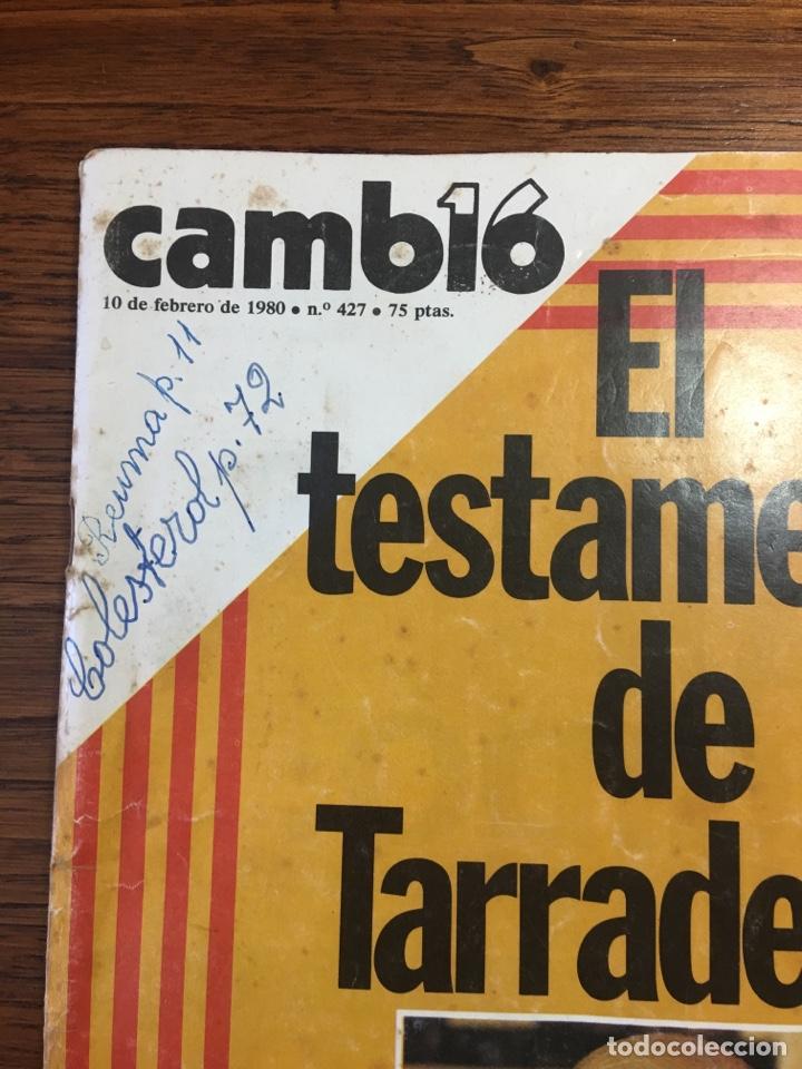 Coleccionismo de Revista Cambio 16: REVISTA CAMBIO 16 EL TESTAMENTO DE TARRADELLAS PRESIDENTE 1980(OLIMPÍADAS) - Foto 2 - 204770746