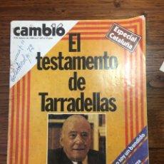 Coleccionismo de Revista Cambio 16: REVISTA CAMBIO 16 EL TESTAMENTO DE TARRADELLAS PRESIDENTE 1980(OLIMPÍADAS). Lote 204770746