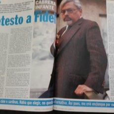 Coleccionismo de Revista Cambio 16: ENTREVISTA A GUILLERMO CABRERA INFANTE. 3 PAGINAS. AÑO 1994. Lote 206130192
