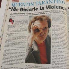Coleccionismo de Revista Cambio 16: ENTREVISTA A QUENTIN TARANTINO . AÑO 1994 . HOJA. Lote 206130351