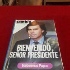 Coleccionismo de Revista Cambio 16: REVISTA CAMBIO 16 1 DE NOVIEMBRE 1982 FELIPE GONZÁLEZ BIENVENIDO SR PRESIDENTE. Lote 206222948