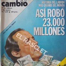 Coleccionismo de Revista Cambio 16: ANTIGÚA REVISTA CAMBIO 16 - Nº 639 - AÑO 1984. Lote 206801636
