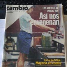 Coleccionismo de Revista Cambio 16: REVISTA CAMBIO 16 Nº 500 DE JUNIO DE 1981 - LOS MUERTOS DE SANCHO ROF - ASI NOS ENVENENAN. Lote 208283738