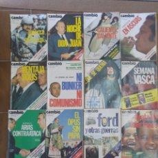 Coleccionismo de Revista Cambio 16: LOTE DE 20 REVISTAS CAMBIO 16 AÑOS 70 LOTE 3. Lote 210400606
