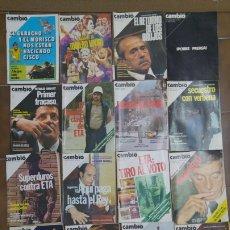 Coleccionismo de Revista Cambio 16: LOTE DE 20 REVISTAS CAMBIO 16 AÑOS 70 L.4. Lote 210401466