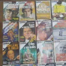 Coleccionismo de Revista Cambio 16: LOTE DE 20 REVISTAS CAMBIO 16 AÑOS 80 L.6. Lote 210403890