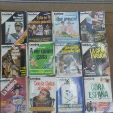 Coleccionismo de Revista Cambio 16: LOTE DE 20 REVISTAS CAMBIO 16 AÑOS 80 L.7. Lote 210404898
