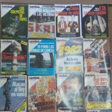Coleccionismo de Revista Cambio 16: LOTE DE 20 REVISTAS CAMBIO 16 AÑOS 80 L.8. Lote 210405416