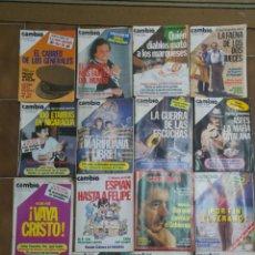 Coleccionismo de Revista Cambio 16: LOTE DE 20 REVISTAS CAMBIO 16 AÑOS 80 L10. Lote 210451597