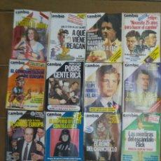 Collectionnisme de Magazine Cambio 16: LOTE DE 20 REVISTAS CAMBIO 16 AÑOS 80 L.11. Lote 210451990