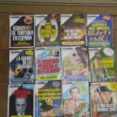 Coleccionismo de Revista Cambio 16: LOTE DE 20 REVISTAS CAMBIO 16 AÑOS 80 L.15. Lote 210454087