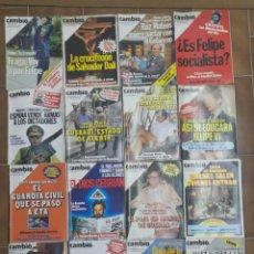 Coleccionismo de Revista Cambio 16: LOTE DE 20 REVISTAS CAMBIO 16 AÑOS 80 L.16. Lote 210475382