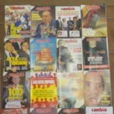 Coleccionismo de Revista Cambio 16: LOTE DE 20 REVISTAS CAMBIO 16 AÑOS 80 17. Lote 210476053