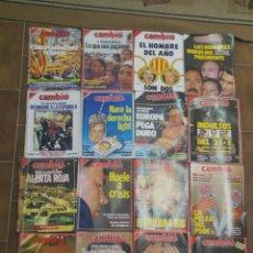 Coleccionismo de Revista Cambio 16: LOTE DE 20 REVISTAS CAMBIO 16 AÑOS 80 L.18. Lote 210476807