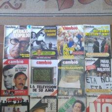 Coleccionismo de Revista Cambio 16: LOTE DE 16 REVISTAS CAMBIO 16 AÑOS 70/80. Lote 210668350