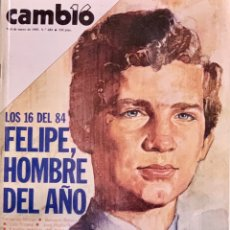 Coleccionismo de Revista Cambio 16: CAMBIO16. Nº 684. 7 ENERO 1985.. Lote 210956819