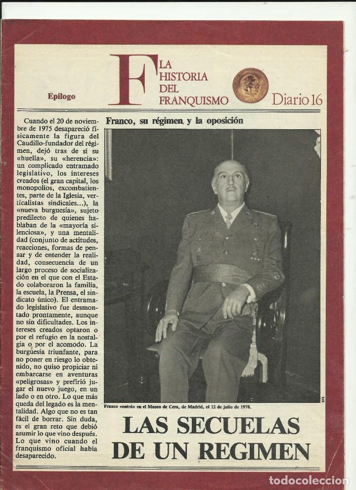 HISTORIA DEL FRANQUISMO DIARIO 16 EPILOGO (Coleccionismo - Revistas y Periódicos Modernos (a partir de 1.940) - Revista Cambio 16)