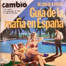 Coleccionismo de Revista Cambio 16: CAMBIO16. Nº 665. 27 AGOSTO 1984.. Lote 212989105