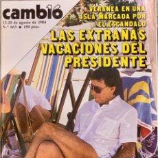 Coleccionismo de Revista Cambio 16: CAMBIO16. Nº 663. 13 AGOTÓ 1984.. Lote 213170350