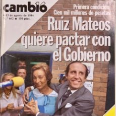 Coleccionismo de Revista Cambio 16: CAMBIO16. Nº 662. 6 AGOSTO 1984.. Lote 213250705
