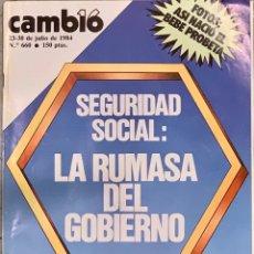 Coleccionismo de Revista Cambio 16: CAMBIO16. Nº 660. 23 JULIO 1984.. Lote 213423153
