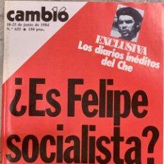Colecionismo da Revista Cambio 16: CAMBIO16. Nº 655. 18 JUNIO 1984.. Lote 213882610