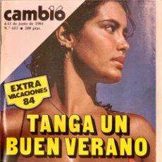 Coleccionismo de Revista Cambio 16: CAMBIO16. Nº 653. 4 JUNIO 1984.. Lote 214025053