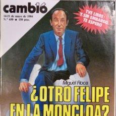 Coleccionismo de Revista Cambio 16: CAMBIO16. Nº 650. 14 MAYO 1984.. Lote 214270185