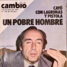 Coleccionismo de Revista Cambio 16: CAMBIO16. Nº 649. 7 MAYO 1984.. Lote 214354821