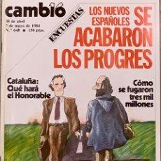 Coleccionismo de Revista Cambio 16: CAMBIO16. Nº 648. 30 ABRIL 1984.. Lote 214432193