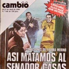Coleccionismo de Revista Cambio 16: CAMBIO16. Nº 646. 16 ABRIL 1984.. Lote 214549851