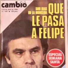Coleccionismo de Revista Cambio 16: CAMBIO16. Nº 645. 9 ABRIL 1984.. Lote 214640045