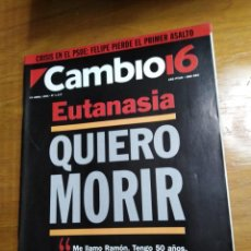 Collectionnisme de Magazine Cambio 16: REVISTA CAMBIO 16 - Nº 1117 ABRIL 1993 - EUTANASIA : QUIERO MORIR. Lote 214743951