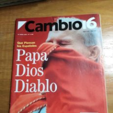 Coleccionismo de Revista Cambio 16: REVISTA CAMBIO 16 - Nº 1126 JUNIO 1993 - QUÉ PIENSAN LOS ESPAÑOLES: PAPA, DIOS DIABLO. Lote 214776917