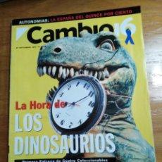 Collectionnisme de Magazine Cambio 16: REVISTA CAMBIO 16 - Nº 1139 SEPTIEMBRE 1993 - Y SUPLEMENTO ESPECIAL - LA HORA DE LOS DINOSAURIOS. Lote 214779846