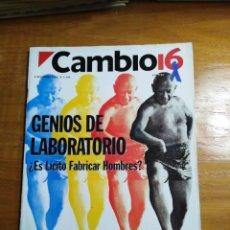Collectionnisme de Magazine Cambio 16: REVISTA CAMBIO 16 - Nº 1146 NOVIEMBRE 1993 - GENIOS DE LABORATORIO. Lote 214780593