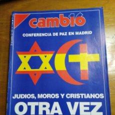 Colecionismo da Revista Cambio 16: REVISTA CAMBIO 16 - Nº 1040 OCTUBRE 1991 - CONFERENCIA DE PAZ EN MADRID, JUDIOS, MOROS Y CRISTIANOS. Lote 214837731