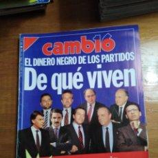 Colecionismo da Revista Cambio 16: REVISTA CAMBIO 16 - Nº 964 MAYO 1990 - EL DINERO NEGRO DE LOS PARTIDOS, DE QUÉ VIVEN. Lote 214876385