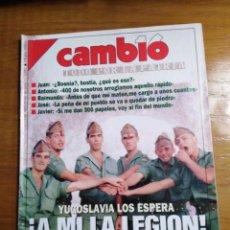 Colecionismo da Revista Cambio 16: REVISTA CAMBIO 16 - Nº 1085 SEPTIEMBRE 1992 - YUGOSLAVIA LOS ESPERA - ¿ A MI LA LEGIÓN !. Lote 215027302