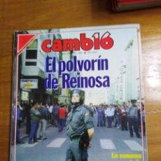 Colecionismo da Revista Cambio 16: REVISTA CAMBIO 16 - Nº 805 MAYO 1987 - EL POLVORÍN DE REINOSA - ARGENTINA VENCIÓ ASUS TEJEROS. Lote 215264620