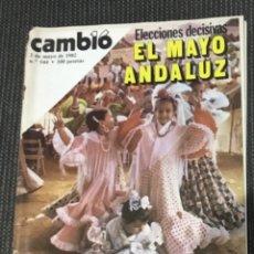 Colecionismo da Revista Cambio 16: REVISTA CAMBIO 16 Nº544 MAYO 1982 ANTIGUA FUTBOL REAL SOCIEDAD ARCONADA GORA REAL. Lote 215300870