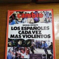 Colecionismo da Revista Cambio 16: REVISTA CAMBIO 16 Nº 827 OCTUBRE 1987 - LOS ESPAÑOLES CADA VEZ MÁS VIOLENTOS - MARIANO RUBIO. Lote 215337897
