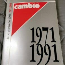 Coleccionismo de Revista Cambio 16: REVISTA CAMBIO 16 Nº 1000 .EXTRA 1971-1991. MIL SEMANAS QUE HACEN HISTORIA. Lote 215385926