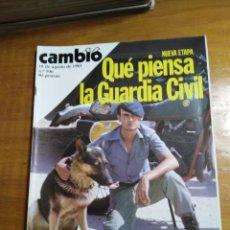 Collectionnisme de Magazine Cambio 16: REVISTA CAMBIO 16 Nº 506 AGOSTO 1981 - QUE PIENSA LA GUARDIA CIVIL - FIDECAYA. Lote 215559680