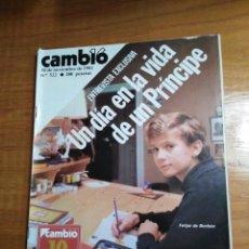 Collectionnisme de Magazine Cambio 16: REVISTA CAMBIO 16 Nº 522 NOVIEMBRE 1981 - FELIPE DE BORBÓN, UN DÍA EN LA VIDA DE UN PRÍNCIPE. Lote 215576568