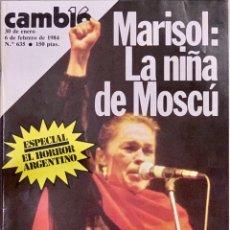 Coleccionismo de Revista Cambio 16: CAMBIO16. Nº 635. 30 ENERO 1984.. Lote 215646743