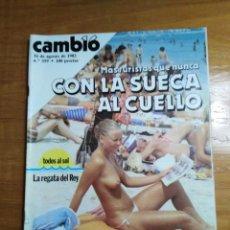 Colecionismo da Revista Cambio 16: REVISTA CAMBIO 16 Nº 559 AGOSTO 1982 - MÁS TURISTAS QUE NUNCA - LANDELINO - - GIBRALTAR. Lote 215650937