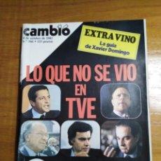Collectionnisme de Magazine Cambio 16: REVISTA CAMBIO 16 Nº 566 OCTUBRE 1982 - EXTRA: VINO - LO QUE NO SE VIÓ EN TVE- BEIRUT. Lote 215656812