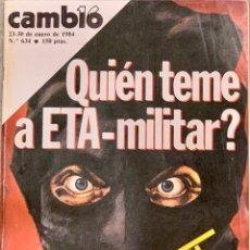 Coleccionismo de Revista Cambio 16: CAMBIO16. Nº 634. 23 ENERO 1984.. Lote 215743918