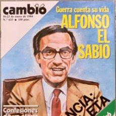 Coleccionismo de Revista Cambio 16: CAMBIO16. Nº 633. 16 ENERO 1984.. Lote 215807658